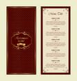 restaurant menu - luxury style vector image