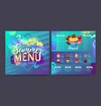 restaurant summer tropical gradient dessert menu vector image