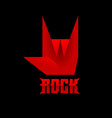 rock and roll sign hand gesturing icon vector image vector image