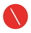 round icon red pencil cartoon vector image vector image