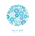 Round Snowflakes Circle Decor Pattern Background vector image