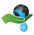 saving water on the planet vector image vector image