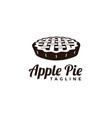 seal badge apple pie logo vector image