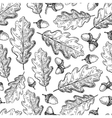 Seamless pattern with autumn leaves Oak vector image vector image