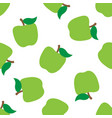 seamless pattern with green apples vector image vector image