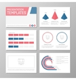Set of blue and red template for multipurpose vector image vector image