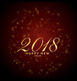shiny sparkles red background for 2018 happy new vector image vector image