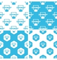 Sitemap patterns set vector image vector image
