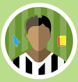 Soccer Referee Icon vector image vector image