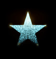 star with glowing particles isolated on vector image vector image