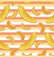 striped pattern mango apricot tangerine vector image vector image