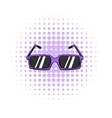 Sunglasses comics icon vector image vector image