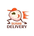 Sushi delivery character vector image