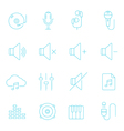 Thin lines icon set - audio vector image vector image