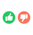 thumbs up and thumbs down circle emblems vector image vector image