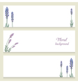 Watercolor floral banners painted by hand vector image