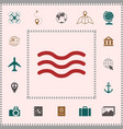 wave icon symbol elements for your design vector image