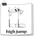 Woman doing high jump vector image vector image