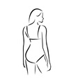 Woman wearing lingerie or swimsuit vector image vector image