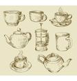hand drawn kitchen set vector image