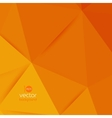 abstract geometric orange background vector image vector image