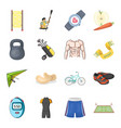 active sports and diet and other web icon in vector image