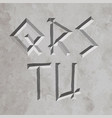 ancient greece style letters vector image vector image