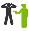 Arrest icon from Business Bicolor Set vector image vector image