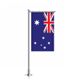 Australia flag hanging on a pole vector image vector image
