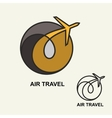 Aviation logo emblem template air travel vector image vector image