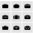 black briefcase icon set vector image