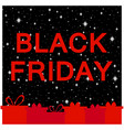 black friday frame with gift boxes vector image