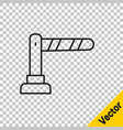 black line railway barrier icon isolated on vector image vector image