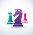 chess piecies icons vector image vector image