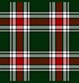 christmas festive plaid pattern vector image vector image