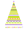 christmass tree card vector image vector image