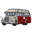 classic red and cream bus vector image vector image