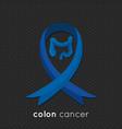 colon cancer ribbon design vector image vector image