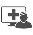 computer patient flat icon vector image