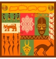Conceptual of Africa vector image vector image