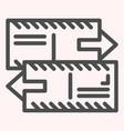 Correspondence line icon two letters envelopes