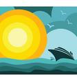 cruise ship vacation vector image vector image