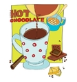 cup of hot chocolate vector image vector image
