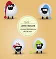 Cute funny lovely sheeps Clipart vector image vector image