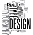design and typography vector image vector image