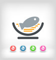 dish of fish icon vector image