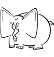 elephants cartoon for coloring book vector image vector image