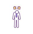 employee frustration rgb color icon vector image