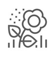 flower pollen line icon vector image