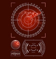 futuristic user interface hud tech elements for vector image vector image